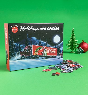 Coca-Cola Holidays Are Coming 500 Piece Jigsaw Puzzle