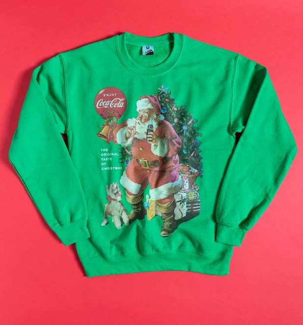 Coca-Cola Santa Claus Green Sweater