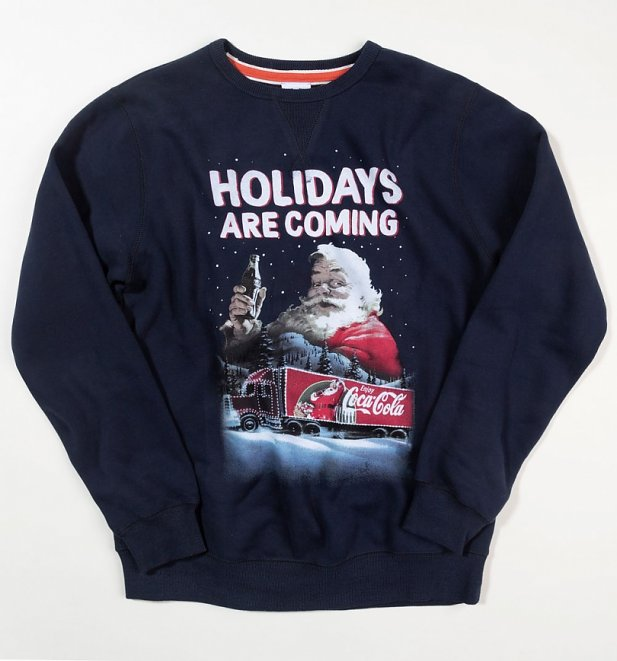 Coca-Cola Santa Holidays Are Coming Christmas Sweater