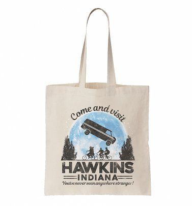 Come And Visit Hawkins Indiana Stranger Things Inspired Tote Bag