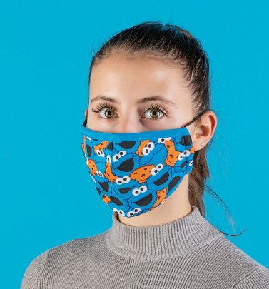 Cookie Monster Faces Sesame Street Face Mask from Difuzed