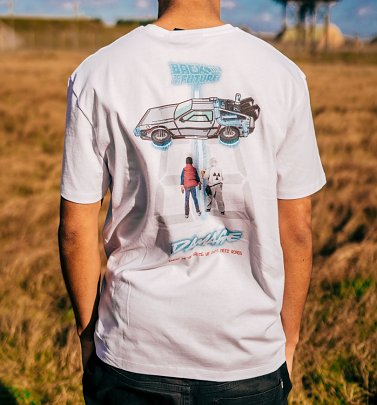 Criminal Damage x Back To The Future Comic Future White T-Shirt