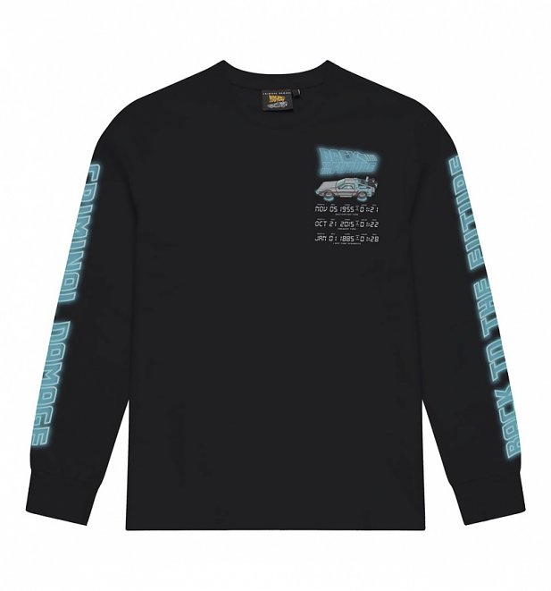Criminal Damage x Back To The Future Time Code Long Sleeve Black T-Shirt