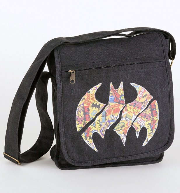 DC Comics Batman Comic Logo Small Canvas Messenger Bag