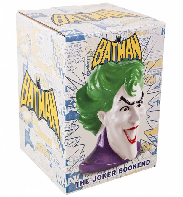 DC Comics Ceramic Joker Head Bookend