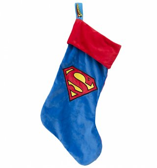DC Comics Superman Logo Fleece Christmas Stocking