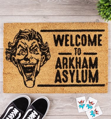 DC Comics The Joker Welcome To Arkham Asylum Door Mat