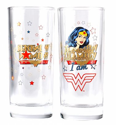 DC Comics Wonder Woman Boxed Set of Two Glasses
