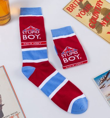 Dad's Army Stupid Boy Socks