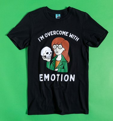 Daria I'm Overcome With Emotion Black T-Shirt