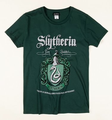 Dark Green Harry Potter Slytherin Crest T-Shirt