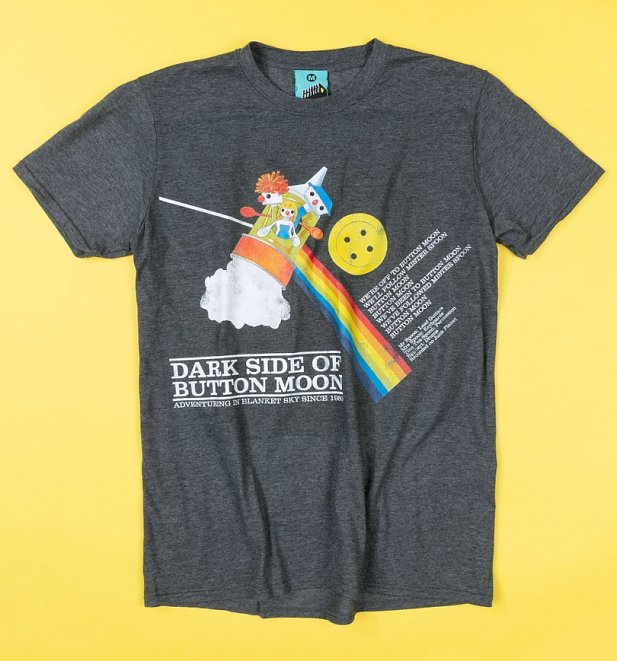 Dark Side Of Button Moon Charcoal T-Shirt