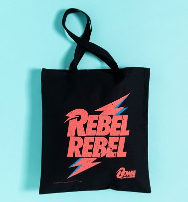 David Bowie Rebel Rebel Canvas Tote Bag