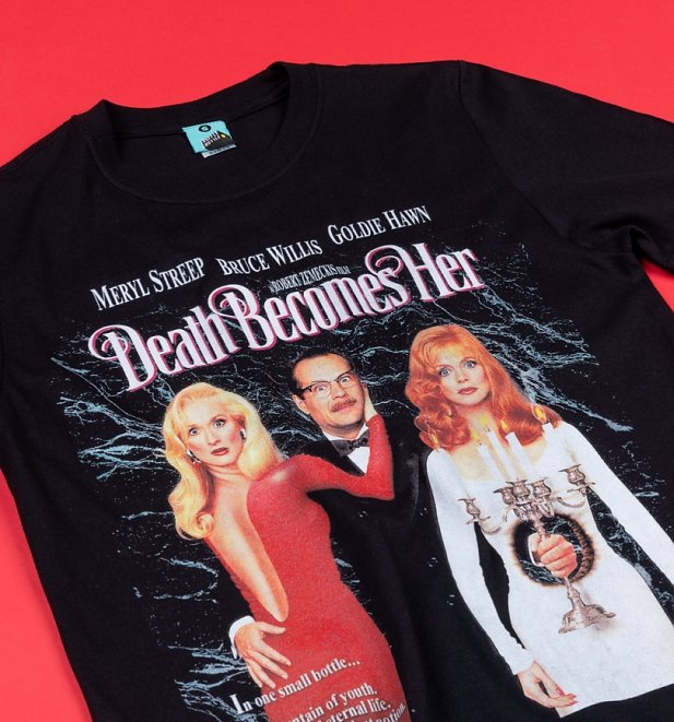 Death Becomes Her Movie Poster Black T-Shirt
