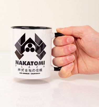Die Hard Inspired Nakatomi Plaza Black Handle Mug