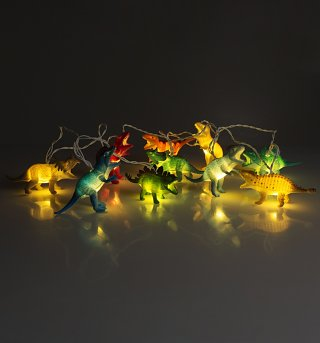 Bright Coloured Dinosaur String Lights