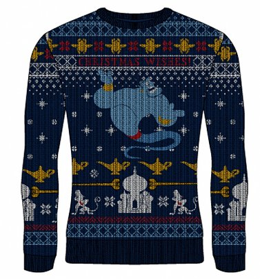 Disney Aladdin Genie Christmas Wishes Jumper