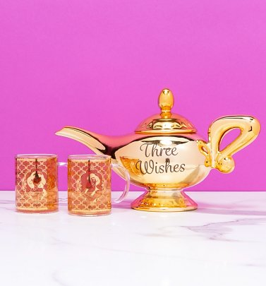 Disney Aladdin Genie Lamp Teapot And Glasses Set
