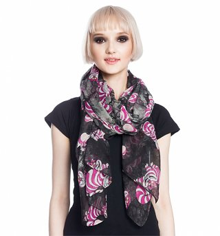 Disney Alice In Wonderland Cheshire Cat Lightweight Scarf