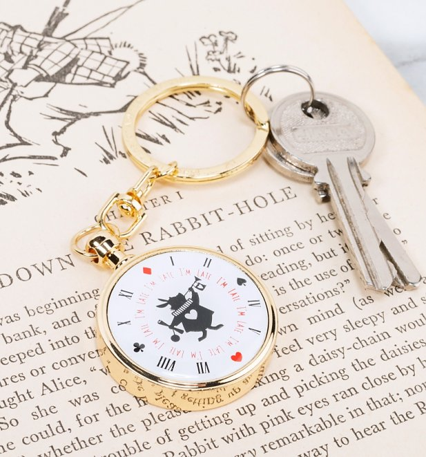 Disney Alice In Wonderland Pocket Watch Keychain