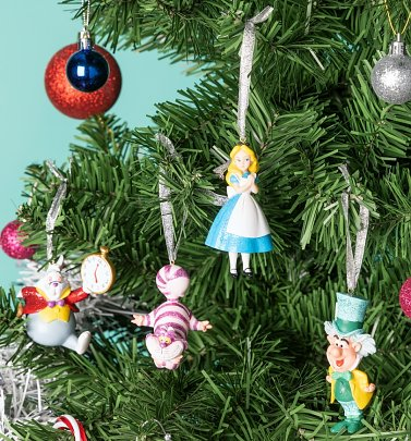 Disney Alice In Wonderland Set of 4 Hanging Decorations