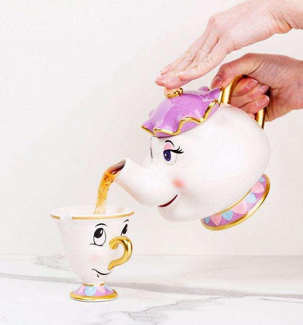 Disney Beauty and The Beast Mrs Potts Teapot And Chip Mug Set