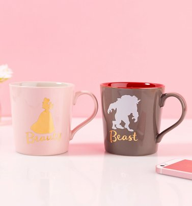 Disney Beauty & The Beast Set Of 2 Tapered Mugs