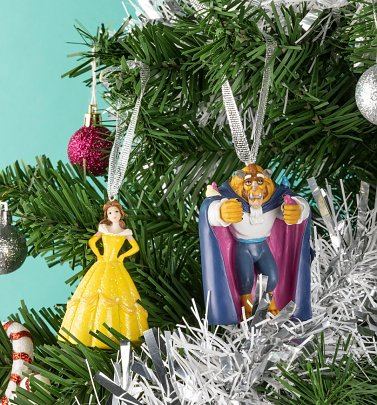 Disney Beauty and the Beast Set of 2 Hanging Decorations