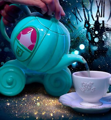 Disney Cinderella Carriage Teapot with Stand
