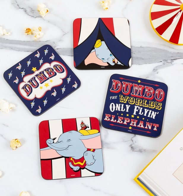 Disney Dumbo Set Of Four Coasters