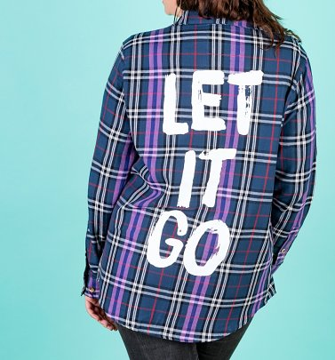 Disney Frozen Elsa Let It Go Flannel Shirt from Cakeworthy