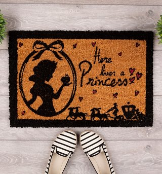 Disney Here Lives A Princess Door Mat