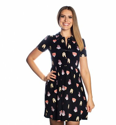 Disney Hocus Pocus Sanderson Sister Button Up Dress from Cakeworthy