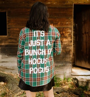 Disney Hocus Pocus Winifred Flannel Shirt from Cakeworthy