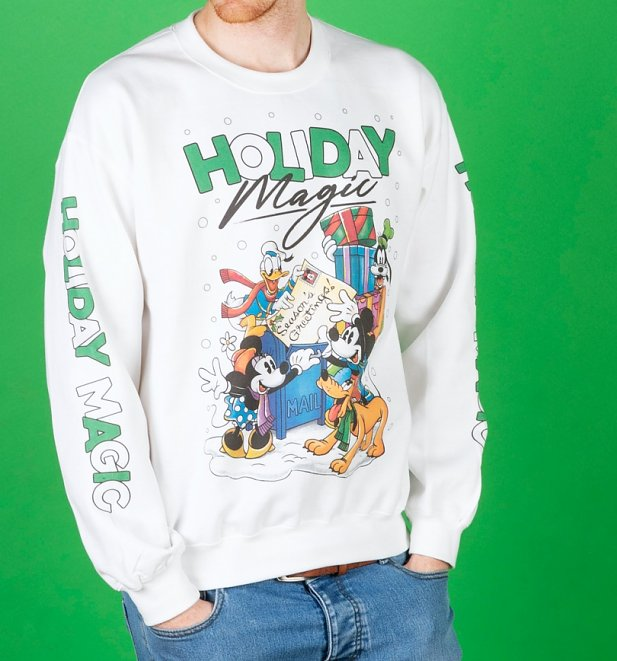 Disney Holiday Magic White Sweater