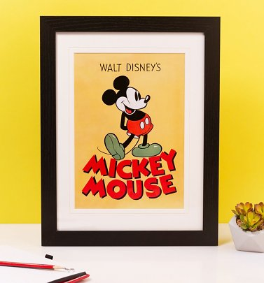 Disney Mickey Mouse Classic Mounted and Framed 30 x 40cm Print