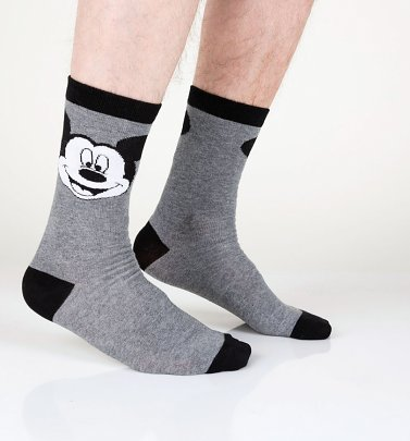 Disney Mickey Mouse Grey Socks