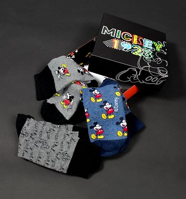 Disney Mickey Mouse Pack of Three Socks in Gift Box