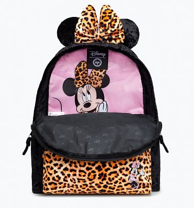 Disney Minnie Mouse Leopard Backpack With Ears from Hype