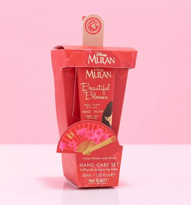 Disney Mulan Hand Cream and Fan File Gift Set from Mad Beauty