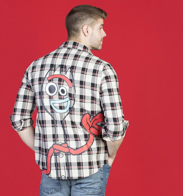 Disney Pixar Toy Story 4 Forky Flannel Shirt from Cakeworthy