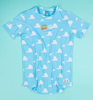 Disney Pixar Toy Story Clouds Repeat Print T-Shirt from Hype