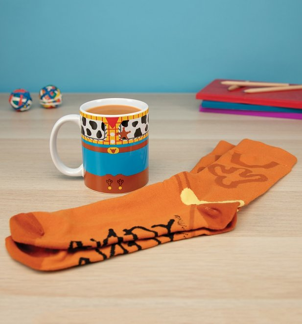 Disney Pixar Toy Story Woody Mug and Socks Set