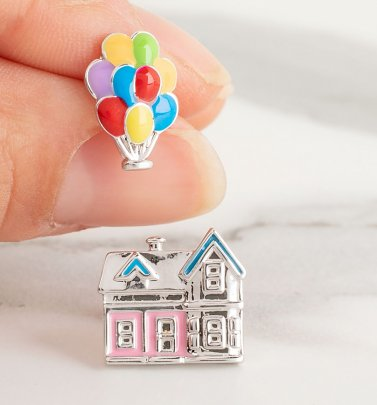 Disney Pixar UP House and Balloons Mismatched Stud Earrings