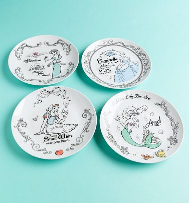 Disney Princess Set of Four Plates