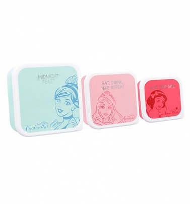 Disney Princess Set Of Three Snack Boxes