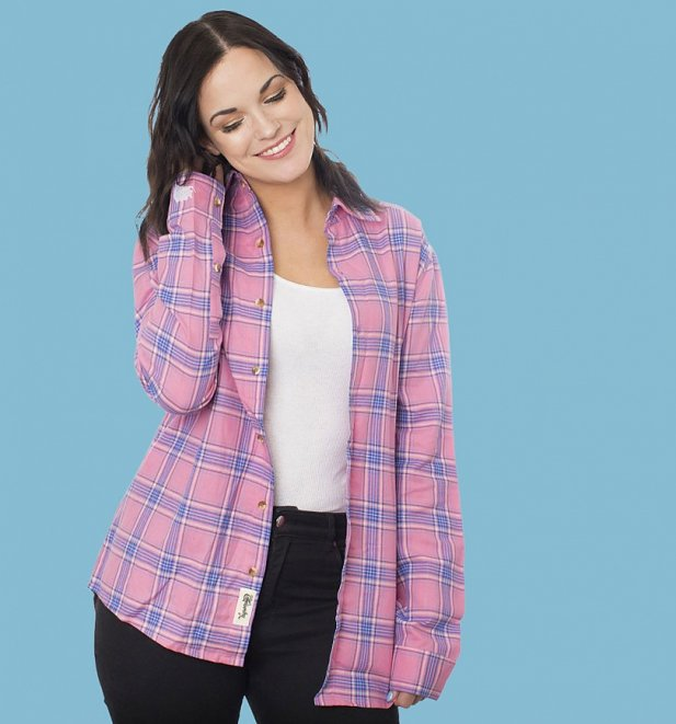 Women's Disney Sleeping Beauty Aurora Flannel Shirt from Cakeworthy