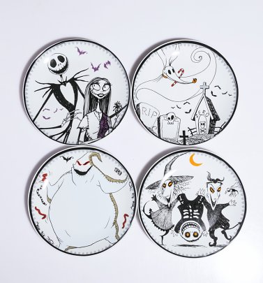 Disney The Nightmare Before Christmas Set of Four Plates