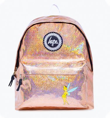 Pink Disney Tinker Bell Iridescent Backpack from Hype