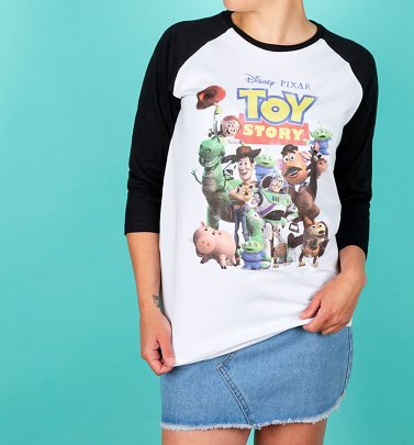 4ae742bc74 New InBestsellerExclusive Disney Toy Story Gang White And Black Baseball  Shirt